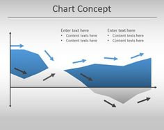 Awesome chart concept for PowerPoint is a simple but useful area chart template for Microsoft PowerPoint presentations with arrows that may be helpful to describe a process or trend showing a chart