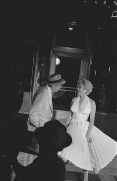 "Tom Ewell & Marilyn Monroe on the set of ""The Seven Year Itch"" 1955"