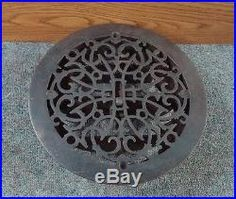 ROUND VICTORIAN ANTIQUE Floor GRILLE CAST IRON 11 +LOUVERS Grate HEAT REGISTER Planter Table, Planters, Cast Iron, Victorian, Flooring, Antique, Architecture, Arquitetura, Wood Flooring