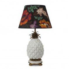 'ANANAS' Pineapple Lampstand +DALEY 'Persephone' Shade Set Black