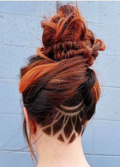 Funky long hair styles Stylish Undercut Updo Bun Hairstyles To wear Right Now Undercu Funky Hairstyles For Long Hair, Hairstyles With Glasses, Hairstyles With Bangs, Pretty Hairstyles, Long Hair Styles, Short Hair, Amazing Hairstyles, Hairstyles 2018, Latest Hairstyles