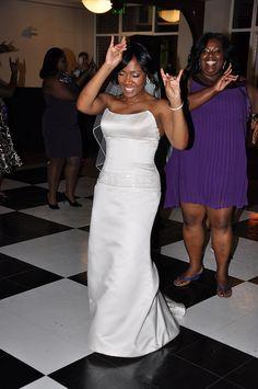 The Bride is a Zeta Phi Beta Girl -:- 0520 http://beautifulbrownbride.blogspot.com/