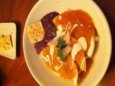 Authentic Mexican food! Chicken enchiladas