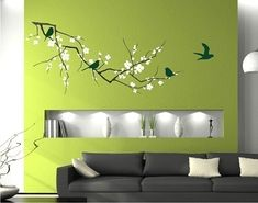Tree Wall Decal Cherry Blossom Branch (Extra Large) - 3 colors. $115.00, via Etsy.