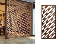 Stunning Privacy Screen Design for Your Home 67 Wood Partition, Partition Screen, Partition Design, Screen Design, Door Design, Jaali Design, Laser Cut Screens, Decorative Screens, Metal Screen