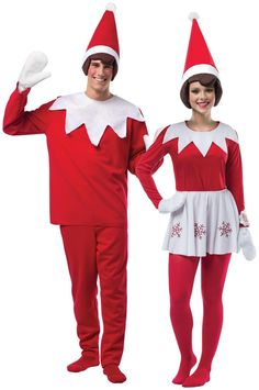 PartyBell.com - Adult #Elf on The Shelf Couples #Costume