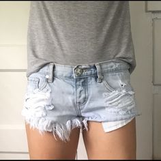Sale | One Teaspoon Trash Whore Shorts One Teaspoon Trash Whore denim shorts. I absolutely love this brand. If you are in the market for destroyed denim shorts these will never let you down. These shorts are very cute & also the definition of short shorts. They are listed as a 25, but fit like a 24. Three button front closure. Frayed edges and details. Great pre-loved condition. No trades. One Teaspoon Shorts Jean Shorts