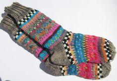 Kuschelsocken - Dicke Fair Isle Socken Barbro - Gr. 39/40 - ein Designerstück von Lotta_888 bei DaWanda