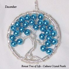December's Birthstone in Turquoise Cultura Crystal Pearls by K for 'Trifles & Whimsy', on Etsy.