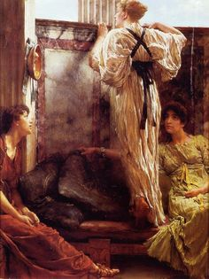 Who Is It by Lawrence Alma-Tadema
