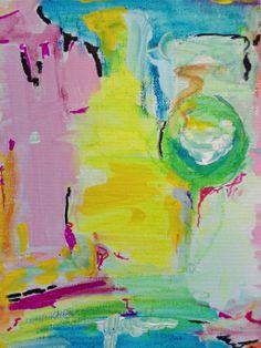 Abstract Painting on canvas board. By Rosalina Bojadschijew www.artonthemoon.com https://www.etsy.com/shop/LaniLight