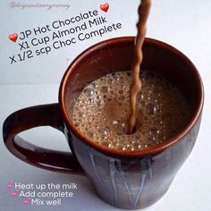 Juice Plus Complete Hot Chocolate! This recipe uses the amazing Juice Plus Complete protein shake mix... which packs the punch of 25 whole foods with plant based nutrition!  To find out more about the amazing range of Juice Plus products and business opportunities, contact me at SarahBaptiste1979@gmail.com or add me on Facebook www.facebook.com/sarah.baptiste.526