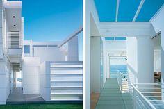 richard meier white modern beach house