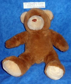 "Build A Bear Plush 15""  HAPPY CUB Soft brown & Tan  BABW 2003  E10 #BuildaBear #AllOccasion"