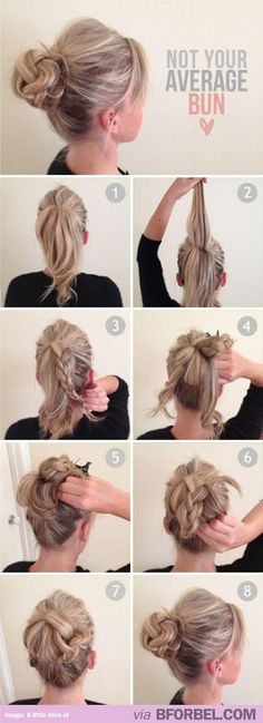 Woah super cool braid-bun hybrid!