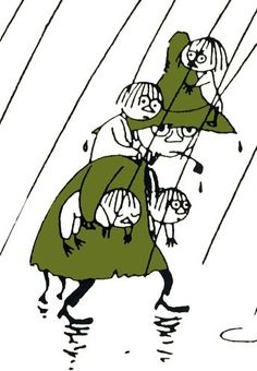 Snufkin and several Woodies - from the Moomin books by Tove Jansson Illustrations, Children's Book Illustration, Tove Jansson, Moomin Valley, Bd Comics, Book Characters, Art Reference, Childrens Books, Fairy Tales