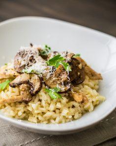 Chicken and Mushroom Risotto Recipe | Sugar & Snapshots