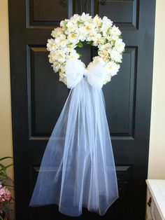 wedding wreath-summer wreath-front door by aniamelisa on Etsy
