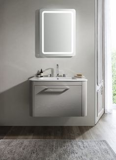 Perfect for those looking to embrace a pared-back look in the bathroom - Celeste 80 Unit & Ceramic Basin in Pebble from Bauhaus. http://www.crosswater.co.uk/product/furniture-furniture-collections-browse-by-range-celeste/celeste-80-unit-and-ceramic-basin-celeste80-unit-ceramic/