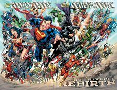 Rebirth   Revista mostra o elenco completo de heróis e vilões do novo Universo DC - veja   Omelete