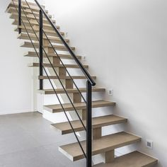 House Staircase, Open Staircase, Staircase Design, Future House, My House, Open Trap, Metal Stairs, Floating Stairs, Home Renovation
