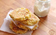 Patata pancake con salmone e formaggio fresco