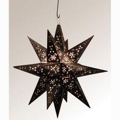 Large 20 Inch Dark Bronze Moravian Star Quintana Roo Starburst Pendant Lighting Ceiling Li