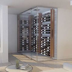 The Metal Series by Genuwine Cellars. Spectacular. #wine #GenuwineCellars #design #architecture #winecellar #beautiful #art #perfect