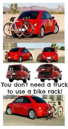 This bike rack is made for cars and trucks of all shapes and sizes!