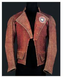 Carmagnole jacket from the time of the French Revolution; musêe de la môde, Paris