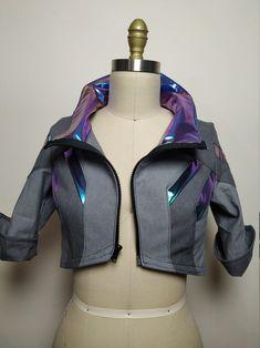 Mode Cyberpunk, Cyberpunk Clothes, Cyberpunk Fashion, Cyberpunk Aesthetic, Jacket Pattern, Bolero Pattern, Character Outfits, 3d Character, Character Concept