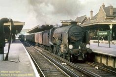 David Heys steam diesel photo collection - 87 - BR RAILWAY ROUNDABOUT 2 Southern Trains, Buses And Trains, Southern Railways, Steam Railway, British Rail, Steam Engine, Steam Locomotive, Brighton, Liverpool