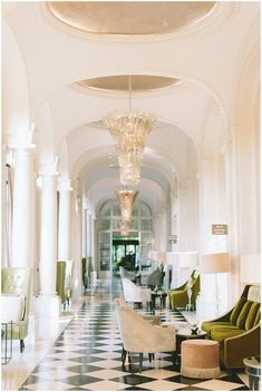 Interior at luxury Hotel Trianon Palace just outside Paris | Image by French Grey Photography