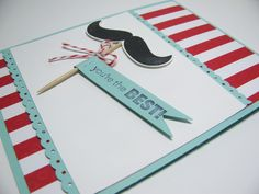 Mustache card for the scrapbook