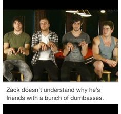 Lol and its so true. He looks like he wonders this about of the time<<< im legit zack in every way possible All Time Low, All About Time, Falling In Reverse, Only Play, Sleeping With Sirens, All Band, Of Mice And Men, Bring Me The Horizon, Band Memes