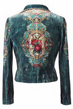 Denim jackets: Jacket 907320 Michal Negrin Old Town Praha Look Fashion, Womens Fashion, Fashion Design, Hippie Fashion, 40s Fashion, Lolita Fashion, Fashion Clothes, Fashion Dresses, Fashion Tips