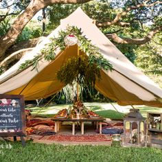 Glamping diameter Protech Canvas Bell Tent Double Door Dinner Styling Charity Ball Event dinner table centre piece - Tents - Ideas of Tents