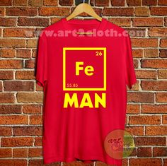 Science Periodic Fe Iron T Shirt Size XS,S,M,L,XL,2XL,3XL //Price: $12 //     #onlineshop