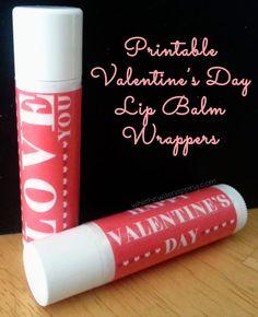 {Printable} Valentine Lip Balm Label