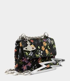 b2e63b08f6 Vivienne Westwood Women's Designer Handbags | Shop Vivienne Westwood -  Velvet Coventry Medium Handbag Flower