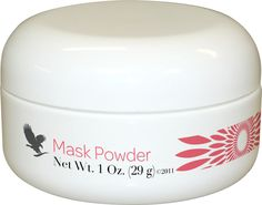 Forever Living - Mask Powder. A unique combination of rich ingredients to condition the skin and cleanse pores. When mixed with aloe vera and allantoin in the Aloe Activator the formula moisturises, cleanses and leaves that skin tighter and smoother. http://www.foreverlivingallure.MyFLpbiz.com