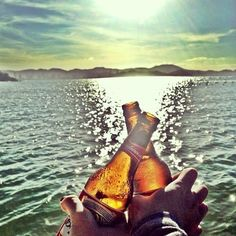 ✿Friends and a Cold Beer...Yep gotta love those hot summer days!✿