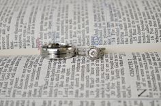 our rings placed beside the bible verse read during the service.