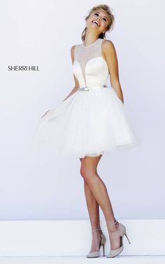 Sherri Hill 32204 Ivory Illusion Party Dress