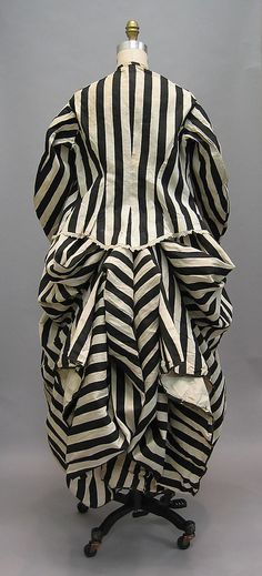 Striped cotton beachwear (back), French, late 1860s-early 1870s. Found in Bourdeaux.