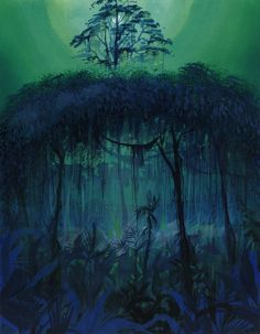 Concept Art - The jungle Book - 1967 - © Walt Disney studio