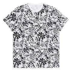 Paul Smith Men's White All-Over Motif Print T-Shirt ($150) ❤ liked on Polyvore featuring mens, men's clothing, men's shirts and men's t-shirts