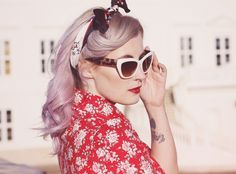 Style rosa haare
