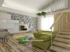 Дизайн-проект интерьера квартиры в стиле жилого минимализма. Архитектор Рихтер Ирина  INSIDE-STUDIO Prague Divider, Loft, Bed, Furniture, Home Decor, Decoration Home, Stream Bed, Room Decor, Lofts
