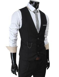 Mens Vest and Tie Suit